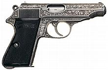 Historical World War II Top Luftwaffe Ace Hans Philipp's Personal Engraved Presentation Walther PP Semi-Automatic Pistol Commemorating His 100th Kill