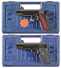 Two Colt Government Model Semi-Automatic Pistols with Cases -A) Colt Government Model Series 80 Semi-Automatic Pistol
