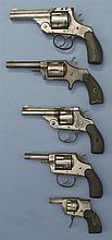 Five Revolvers -A) Harrington & Richardson Top Break Revolver