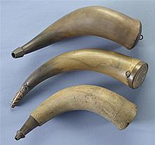 Three Large Powder Horns