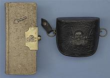 17th Lancers Blacksmith's Ledger and Field Glasses Case