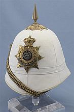 South Wales Borderers Officer's Field Service Cork Pith Helmet