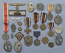 Group of German Marked Medals and Badges