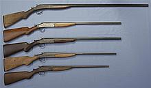 Five Single Barrel Shotguns -A) New York Arms Single Shot Shotgun