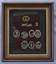 Grouping of German Style Kriegsmarine Badges and Insignias