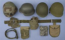 Group of Three Helmets and  Accessories
