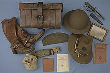 Large Group of WWI Military Items