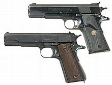 Two Semi-Automatic Pistols -A) Colt Series 80 MK IV Gold Cup National Match Pistol