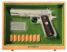 Colt Model 1911A1 World War II Pacific Theater Commemorative Semi-Automatic Pistol with Display Case