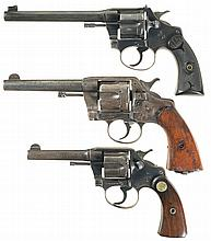 Three Colt Double Action Revolvers -A) Colt Police Positive Target Model Revolver