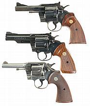 Three Colt Double Action Revolvers -A) Colt Trooper Model Revolver