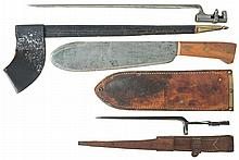 A U.S.M.C. Corpsman's Knife and Bayonets for the Johnson 1941 and Winchester 1866 Rifle