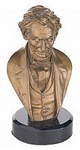 Scarce John Rodgers Abraham Lincoln Bronze Desk Bust