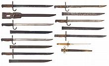 Seven Japanese Bayonets and One Naval Dirk