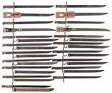 Sixteen Japanese Bayonets