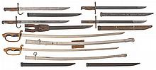 Two Japanese Uniform Swords and Four Bayonets