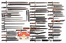 Thirty-Nine Assorted Bayonets, Six Communist/Vietnamese Buttons/Pins, and a Small Flag