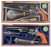 Two Cased Matching Serial Numbered Colt Commemorative Percussion Revolvers -A) Colt Model 1851 Navy Robert E. Lee Commemorative Revolver