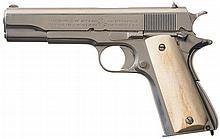 Colt Government Model 1911 Semi-Automatic Pistol with Bone Grips