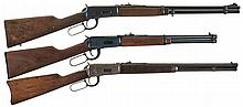 Three Winchester Lever Action Long Guns -A) Winchester Model 94 Carbine