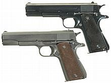 Collector's Lot of Two Argentine Contract Colt Semi-Automatic Pistols -A) Argentine Contract Colt Government Model 1927 Pistol