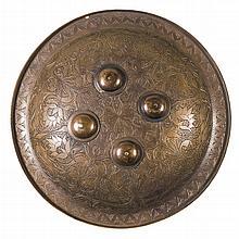 Victorian Era Brass Decorative Shield