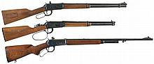 Three Winchester Lever Action Long Guns -A) Winchester Model 1894 Rifle