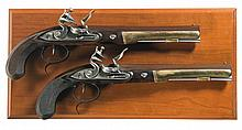 Cased Set of Two United States Historical Society Hamilton-Burr Dueling Pistols -A) U.S Historical Society Hamilton-Burr Flintlock Dueling Pistol