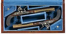 Cased Set of Two United States Historical Society Hamilton-Burr Flintlock Dueling Pistols -A) U.S Historical Society Hamilton-Burr Dueling Pistol