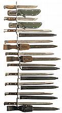 Ten Finnish Bayonets with Sheaths