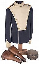 Trooper's 17th Lancers Tunic, Pommel Holsters and Canteen