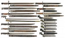 Sixteen British/Commonwealth Bayonets