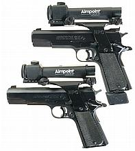Two Colt National Match Semi-Automatic Pistols with Aimpoint Sights -A) Colt Mark IV Series 80 Gold Cup National Match Pistol
