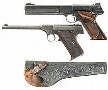 Two Colt Woodsman Series Semi-Automatic Pistols -A) Colt Second Series Match Target Pistol