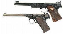 Two Colt First Series Woodsman Semi-Automatic Pistols -A) Colt Woodsman Match Target Pistol