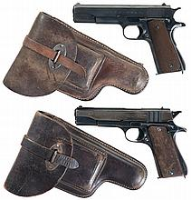 Two Argentine Semi-Automatic Pistols with Holsters and Extra Magazines -A) Interior Ministry and National Territory Police Marked D.G.F.M. - (F.M.A.P) Model 1927 Pistol