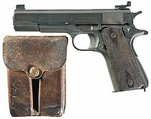 U.S. Colt Model 1911A1 Semi-Automatic Pistol with Original Government Transfer Papers and Extra Magazines