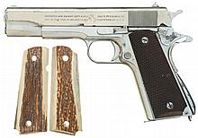 U.S. Colt Model 1911A1 Semi-Automatic Pistol with Extra Stag Grips