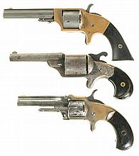 Three Spur Trigger Pocket Revolvers -A) Merwin & Bray Fire Arms Revolver