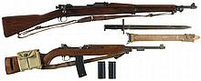 Two U.S. Rifles -A) Rock Island 1903 Bolt Action Rifle with Bayonet and Scabbard