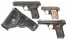 Three Colt Semi-Automatic Pistols -A) Colt 1903 Pistol with Holster