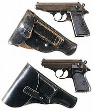 Collector's Lot of Two Walther Semi-Automatic Pistols -A) Walther PP Pistol with Holster