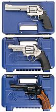Collector's Lot of Three Smith & Wesson Revolvers with Cases -A) S&W; Model 686 Revolver