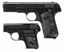 Two Colt Semi-Automatic Pistols -A) Colt 1903 Pocket Hammerless Pistol