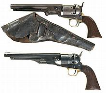 Two Colt Percussion Revolvers -A) Colt Model 1851 Navy Revolver with Holster