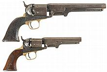 Two Colt Percussion Revolvers -A) Colt Model 1851 Navy Revolver