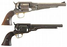 Two Antique American Percussion Revolvers -A) Martially Proofed Remington New Model Army Revolver