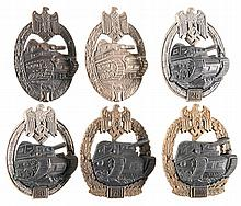 Six Heer Tank Assault Badges