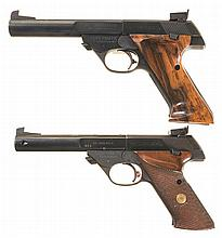 Two High Standard Semi-Automatic Sporting Pistols -A) High Standard Model 104 Supermatic Citation