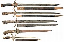 Five German Style Hunting Knives
